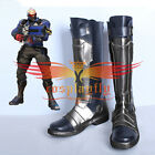 Overwatch Soldier 76 Cosplay Shoes Halloween Battleframe Boots Custom Made Size