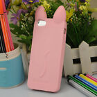 Fashion Cat Ears Soft Rubber Silicone Case Cover Skin for iPhone 4 5 c 6 s Plus