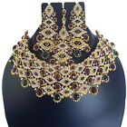 Indian Bollywood Choker Traditional Necklace Ethnic Gold  ewelry Earring New Set