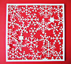 4 Large, Beautiful Snowflake Frame Christmas Background Die Cuts, Any Colour