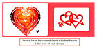 10 Swan & Linked Hearts Die Cuts. Valentine, Wedding, Anniversary. Any Colours!