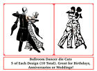 Valentine, Wedding, Dancing/Ballroom/Strictly Die Cuts - 5 Of Each. Any Card!