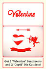 5 Valentine Die Cuts & 2 Sets Of Cupid Die Cuts. 15 Total. Choose Colour & Card!