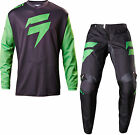 SHIFT WHITE LABEL NINETY SEVEN MENS ADULT GREEN RACE GEAR COMBO JERSEY PANTS MX