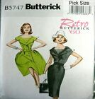 Butterick Retro Sewing Pattern 5747 Ladies 60s Full or Wiggle Dress Pick Size