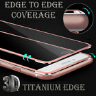 Full Cover 3D Titanium Edge Tempered Glass Screen Protector for iPhone 5/6/7/S/+