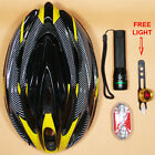 NEW Adult Bike Bicycle Cycle Safety Helmet & Front/Back Light with FREE LIGHT