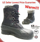 Men's Black Winter Snow Boots Shoes Warm Lined Thermolite Waterproof 2006