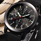 Mens Military Stainless steel Date Quartz Sports Wrist Watch Daily Waterproof UK