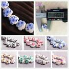 New Charms 10/30pcs 10mm Flowers Pattern Ceramic Porcelain Loose Spacer Beads