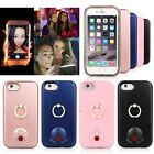Luminous LED Light Up Selfies Case For iPhone 6S 7 Plus Ring Holder Power Cover