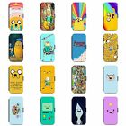 Adventure Time Phone Flip Wallet Case Cover Finn Jake Beemo BMO LSP For Iphone