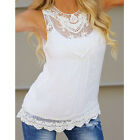 Women new Summer Lace T-Shirt Vest Top Sleeveless Blouse Casual Tank Tops 1pcs