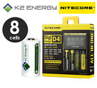 Nitecore D4 Digi Charger + K2 Energy 3.2V RCR123 Rechargeable CR123A Battery