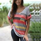 Womens Summer Fashion Tops Short Sleeve Casual Blouse T-Shirt Tee New Plus Size