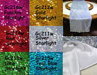 Gc- Silver Gold Red Lime Fuschia Teal Starlight Sequin Table Runner Custom Size