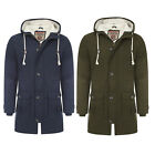 Mens Parka Coat Tokyo Laundry Dierk Hooded Borg Lined Fishtail Parker Jacket