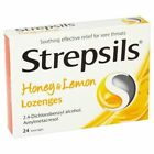 Strepsils Honey & Lemon 24 Lozenges First Aid For Sore Throats