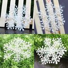 White Snowflake Plastic Christmas Xmas Holiday Party Ornaments Hanging Decor