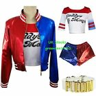 Harley Quinn Halloween Costume DC Suicide Squad Red Blue Daddy's Lil Coat Jacket