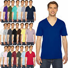 AMERICAN APPAREL V NECK T SHIRT BASIC TEE SHIRT SHORT SLEEVE COTTON JERSEY 2456