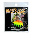 "Catchmore 36"" SINGLE HOOK Drift Rig, SIX Packs of One Color (Choose Color) #DRS"