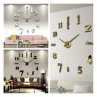 Modern Large DIY 3D Wall Clock Mirror Surface Sticker Home Decor Art Design