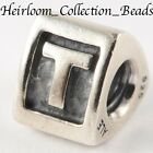 AUTHENTIC PANDORA RETIRED ALPHA LETTERS BLOCK 790323 *CHOOSE LETTER* STER SILV