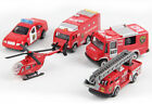 1pcs Alloy Fire Engine Ladder Truck Helicopter Model Kids Car Toy Vehicles 1:64