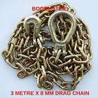BOGBUSTER DRAG CHAIN 3 METRE X 8 MM G70 RECOVERY OFF ROAD 4X4 WINCH KIT 7600KG