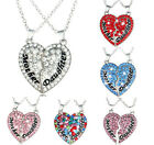 Alloy Gift Pendant Jewelry Heart-Shaped Chain Crystal Necklace Fashion Clavicle