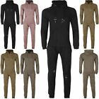 New Mens Fleece Ripped Hoodie Loungewear Crew Neck Joggers Hooded Full Tracksuit