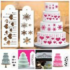 1Pc Cake Stencil Coffee Milk Cupcake Decoration Template Mold DIY Spray Mould
