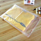 Multi Size Clear Frosted Seal Self Adhesive Plastic Jewelry Matte Packing Bags