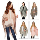 Boutique Ladies New Luxury Winter Blanket Wrap Knitted Scarf Pashmina Cape Coat