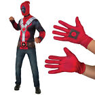 Rubies Official Marvel Deadpool Adults Top Mask Or Gloves Fancy Dress Costume