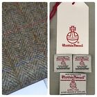 Harris Tweed Fabric & Labels TRADITIONAL HERRINGBONE craft quilting sewing