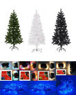 New Christmas Tree Pine With Stand White Green & Black 4ft 5ft & 6ft UK seller