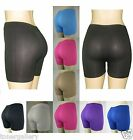 Women Seamless Stretch Bike Shorts Solid Colors Spandex Workout Plain Colors