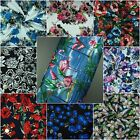 """Stretch Cotton Fabric Floral Dress Making High Quality Extra Wide 60"""" 180g/m2"""