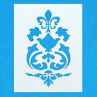 Damask Pattern Vintage Shabby Chic Mylar Painting Wall Art Furniture Stencil 8