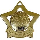 AM722 MINI STAR BASKETBALL METAL MEDAL AND FREE RIBBON