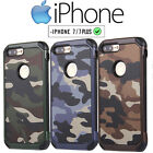 Apple iPhone 7 & Plus Camouflage TOUGH ARMOUR PC Protective Case Cover Mobile
