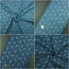 3.8oz 100% Cotton Pure Denim Fabric, Roses, Floral, Light&Dark Blue, Metres
