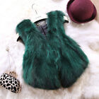 Women 100% Real Raccoon Fur Vest Gilet Waistcoat Short Outwear Overcoat Natural