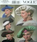 Vogue Sewing Pattern 7838 626 Vintage Retro Ladies Hat Hats Millinery