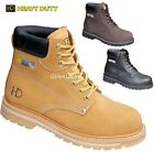 MENS LEATHER WORK SAFETY SHOES STEEL MIDSOLE TOE CAP ANKLE BOOTS TRAINERS SIZE