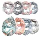Infinity Scarf Top Fashionland Premium Soft Multi-Colored Crinkle Infinity Scarf