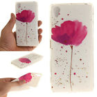 Patterned Soft Rubber Silicone TPU Gel Back Case Cover For Alcatel Sony Xperia