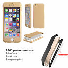 360° Full Hybrid Tempered Glass + Acrylic Hard Case Cover For iPhone 7